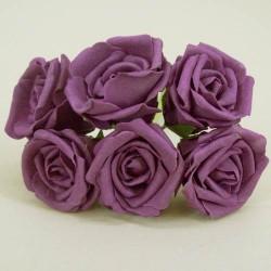 Nadia Colourfast Foam Roses Aubergine 6 pack - R200 T3