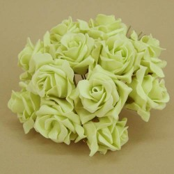 Sweetheart Colourfast Foam Roses Pistachio Green 12 pack - R192 KK3