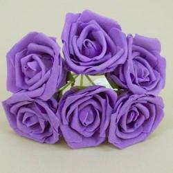 Colourfast Beauty Foam Roses Bundle Purple 6 Pack - R165 EE4