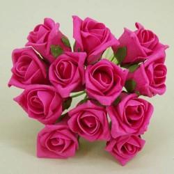 Colourfast Foam Roses Hot Pink Bud 12 pack - R174 U2