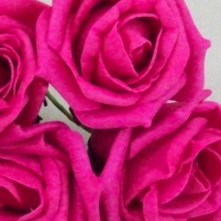 Colourfast Cottage Foam Roses Bundle Hot Pink 6 Pack - R386 T1