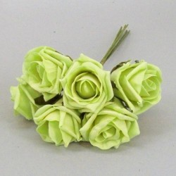 Colourfast Cottage Foam Roses Bundle Lime Green 6 Pack - R388 T2
