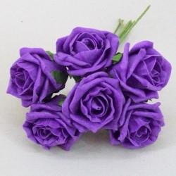 Colourfast Cottage Foam Roses Bundle Purple 6 Pack - R387 U2
