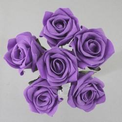Colourfast Joy Foam Roses Bundle Purple 6 Pack - R131 U2