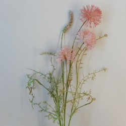 English Meadow Artificial Flowers Pink Cornflowers - C125 FF3