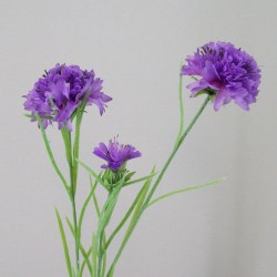 Artificial Meadow Cornflowers Purple Flowers - C158 A4