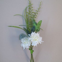Mini Artificial Cornflower Posy Cream - C175 C3