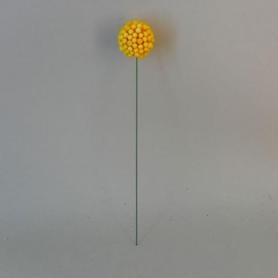 Artificial Craspedia Flowers - C045