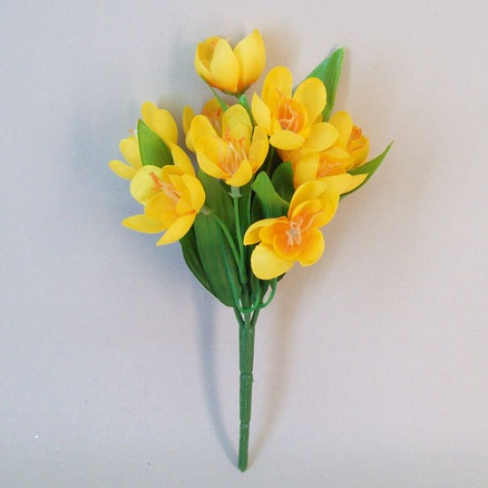 Artificial Crocus Plants Yellow - C238 B3
