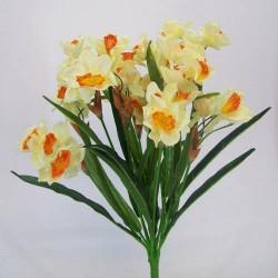 Artificial Daffodil Narcissus Bunch Lemon Orange - D131 E1
