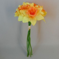 Artificial Daffodils Bundle Yellow Orange x 6 - D023 EE3