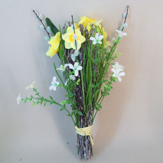 Artificial Daffodils and Twigs Spring Posy - D164 LL4
