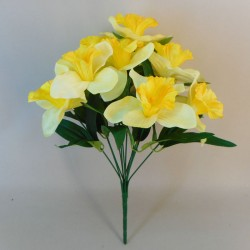 Fleur Artificial Daffodils Bunch Lemon - D101