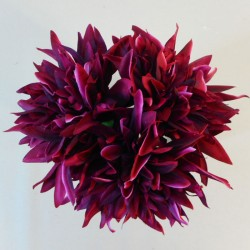 Artificial Dahlias Bundle Burgundy - D048 B1