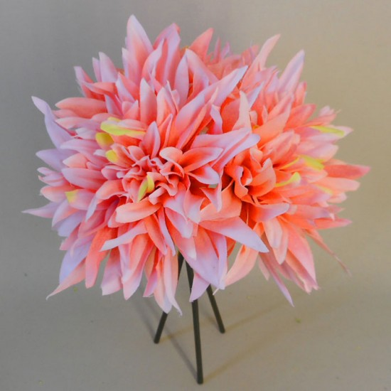 Artificial Dahlias Bundle Coral - D046 D1