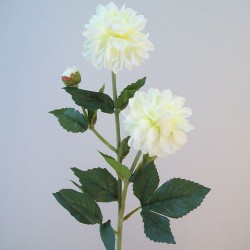 Silk Dahlia Flowers Cream - D139