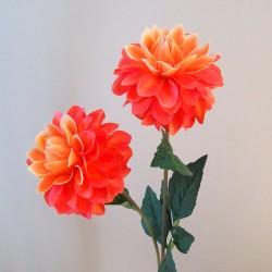 Artificial Dahlias Orange - D103 C1