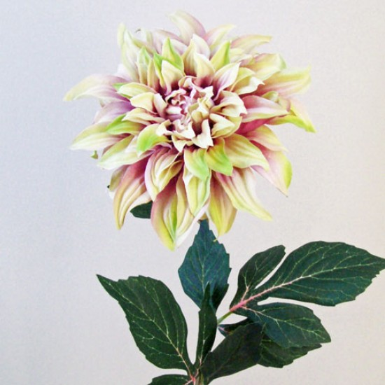 Artificial Dahlias Pink Green - D005 E4