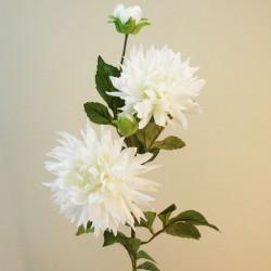 Artificial Dahlias Spray Creamy White - D200 HH4