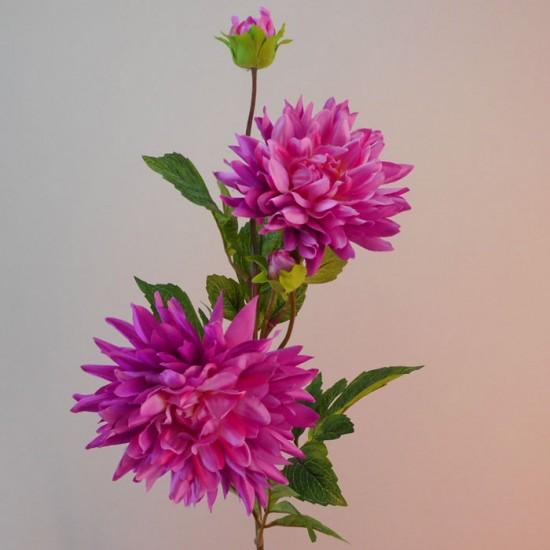 Artificial Dahlias Spray Cerise Pink - D202 F1