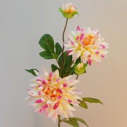 Artificial Dahlias Spray Pink Cream - D201 HH4