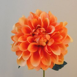 Artificial Dahlia Flowers Carnival Orange - D029