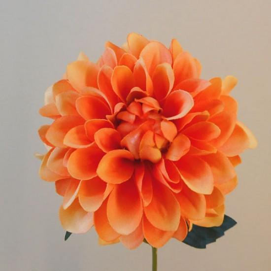 Artificial Dahlia Flowers Carnival Orange - D029