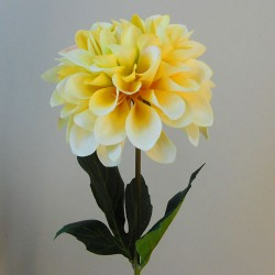 Artificial Dahlia Flowers Carnival Yellow - D177
