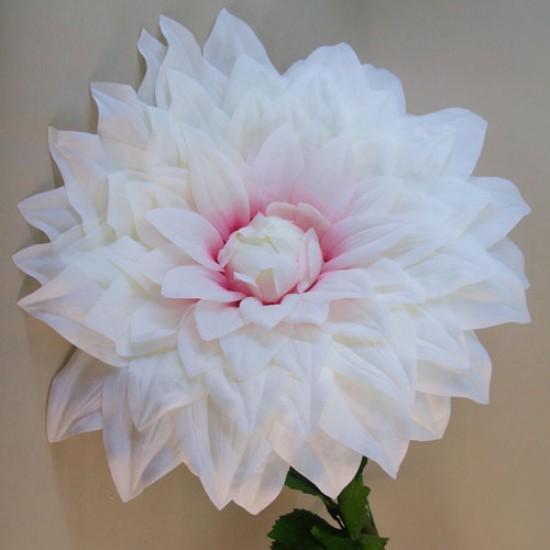 Giant Supersized Artificial Dahlia Cream Pink | VM Display Prop - D174 AA4