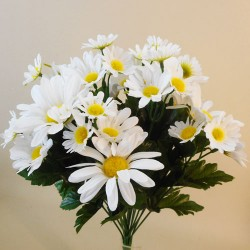 Artificial Daisies Bouquet White - D009 GG2
