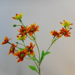 Artificial Daisy Stem Orange - D203