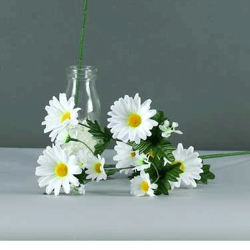 Artificial Meadow Daisies Stem White - D073 D4
