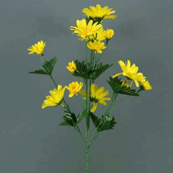 Artificial Meadow Daisies Stem Yellow - D074 D4