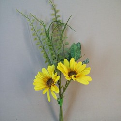 Mini Artificial Daisies Posy Yellow - D111 LL2