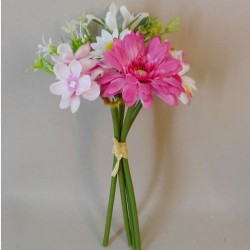 Artificial Daisy and Hydrangea Posy Pink - D062 C2