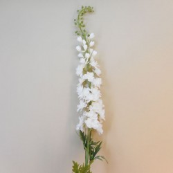 Artificial Delphiniums Gigante White 135cm - D031 KK1