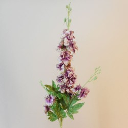 Dusky Purple Silk Delphiniums or Larkspur - D033 B1