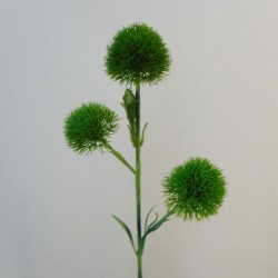 Artificial Trick Dianthus Spray Green - D085 E3