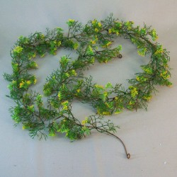 Artificial Elderflowers Garland Yellow - E016 E4