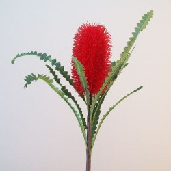 Artificial Banksia Flowers Red - B047 A3