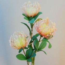 Rydal Artificial Leucospermum Protea Peach - L046 AA3