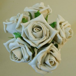Colourfast Cottage Foam Roses Bundle Beige 6 Pack - R201 S3