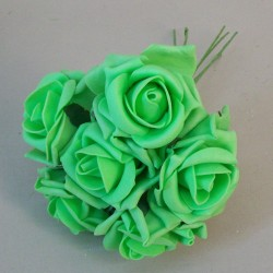 Colourfast Cottage Foam Roses Bundle Harlequin Green 6 Pack - R740 T1