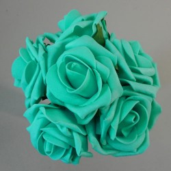 Colourfast Cottage Foam Roses Bundle Jade 6 Pack - R205 S3
