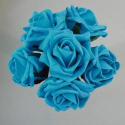 Colourfast Cottage Foam Roses Bundle Petrol Blue 6 Pack - R211 T4