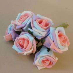 Colourfast Cottage Foam Roses Bundle Unicorn 6 Pack - R316 R3