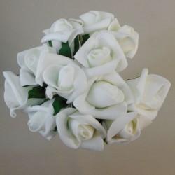 Colourfast Foam Rose Buds Ivory 12 pack - R221 U3