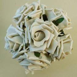 Colourfast Foam Roses Large Beige 6 Pack - R213 U1