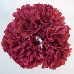 Foam Carnations Posy Burgundy 6 Pack - C216 FF1