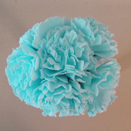 Foam Carnations Posy Tiffany Blue 6 Pack - C212 T4